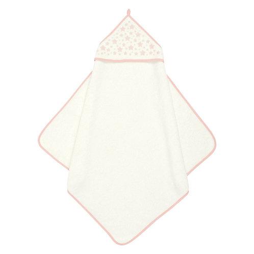 Полотенце для купания, белый с розовым, M000012M