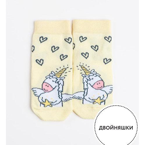 Носки детские 400K-582, бледно-желтый