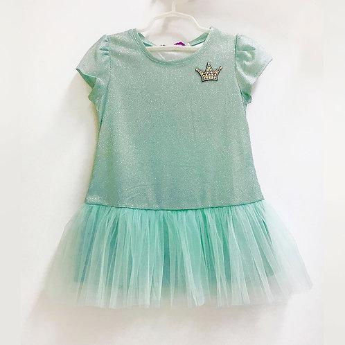 2020-3 Платье для девочки  люрекс, мята
