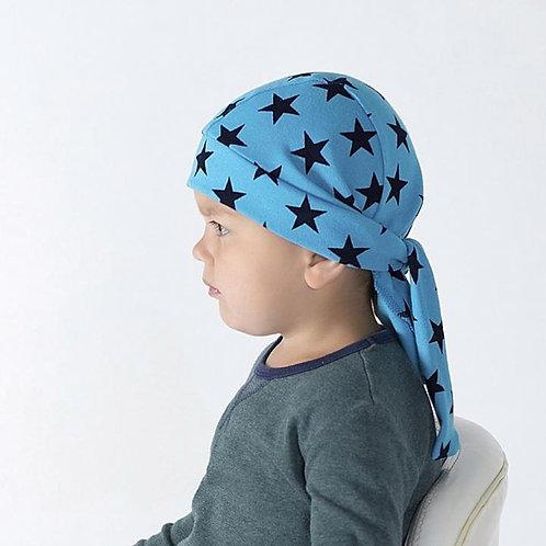 Бандана, звезды на голубом