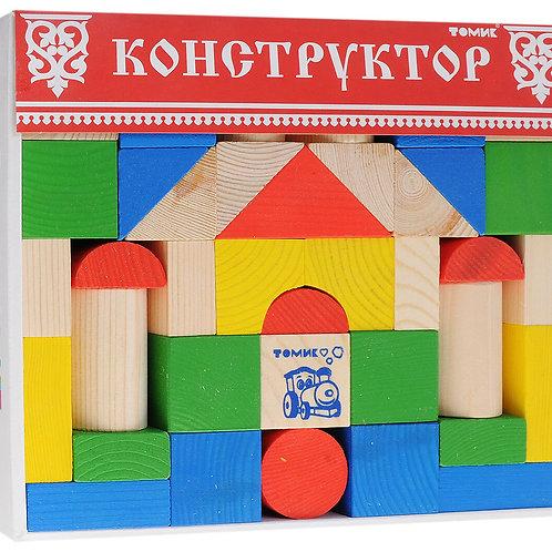 """6678-43 Конструктор """"Цветной"""" 43 дет"""