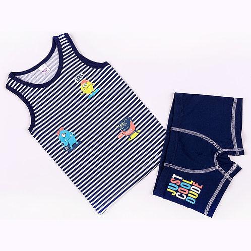 01237_BAT Комплект (майка+боксеры) для мальчика супрем синий