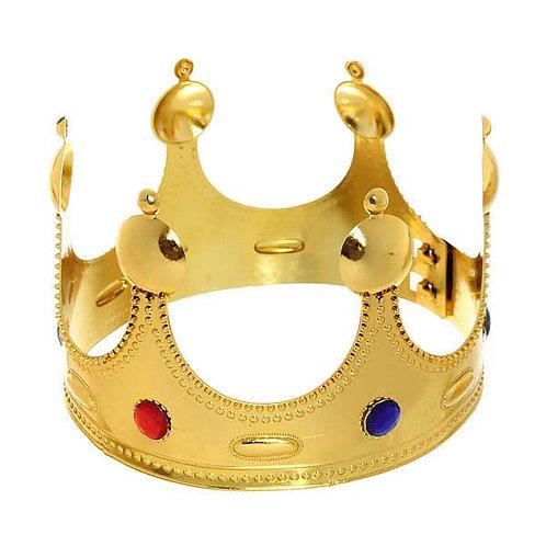 """Корона карнавал. """"Король"""" пластик, золото 914-129"""