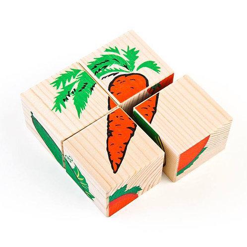 """Кубики """"Овощи"""" 4 шт."""