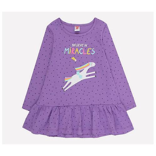 К 5640/ирис,мелкие звездочки платье для девочки