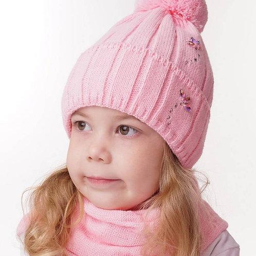 """Снуд   детский  """" Жизель"""",розовый"""
