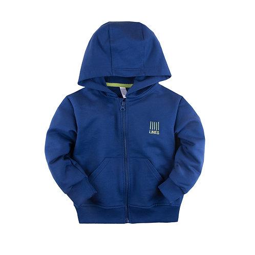 181Б-461 Толстовка с капюшоном, синий ДМ 181Б-461