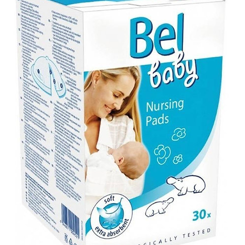Bel Baby Nursing Pads 30шт вкладыши в бюстгальтер