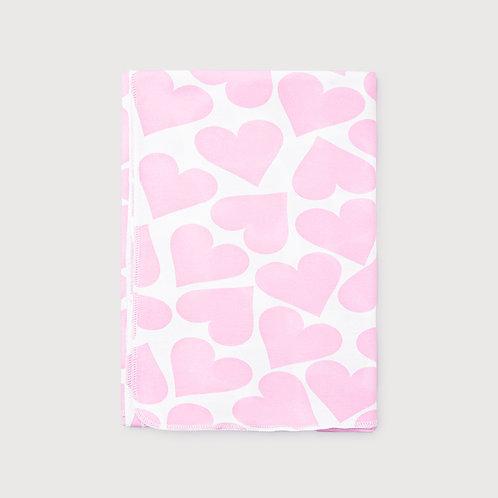 Пеленка К 8512/св.розовые сердечки на белом