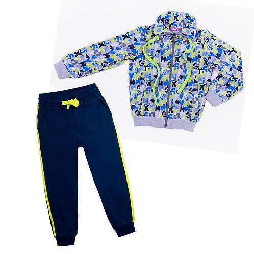00847_BAT Костюм толстовка+ штаны для мальчика  мультиколор