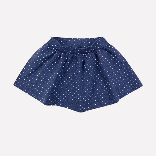 К 7113/ультрамарин,горох юбка для девочки