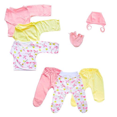 Набор для новорожденного 8 предметов,девочка