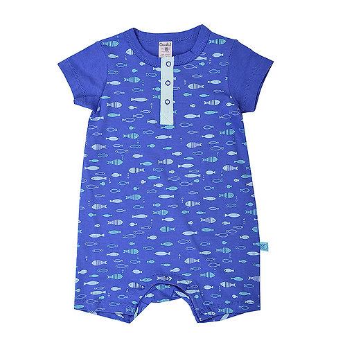 Песочник для мальчика К 6082/рыбки на синем