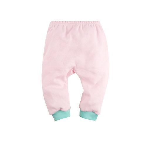 Штанишки с манжетами, розовый