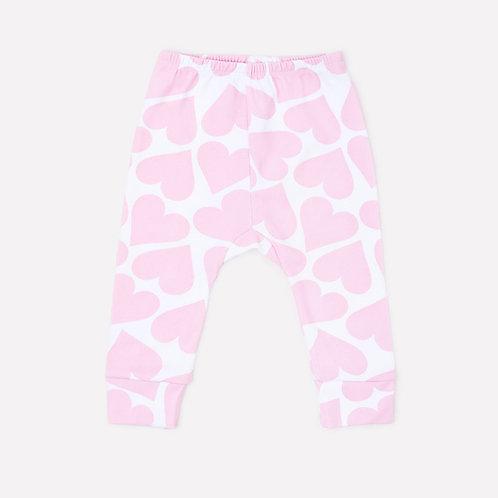 Брюки для девочки К 4718/св.розовые сердечки на белом