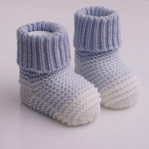 """Носки """"Малыш"""", голубой+белый"""