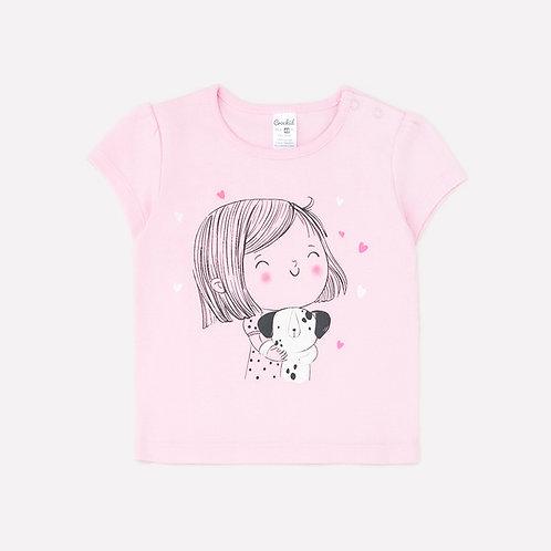 Футболка для девочки К 300044/нежно-розовый(детки)
