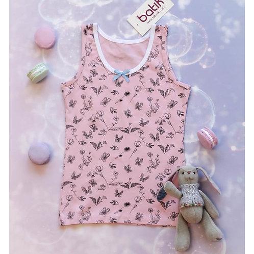 00112_BAT Комплект майка+ плавки для девочки супрем розовый