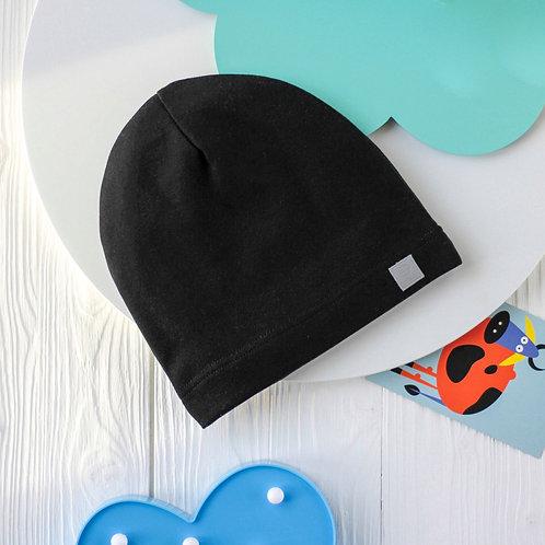 """ШЛ20-08220456 Однослойная шапка с нашивкой """"Воздушный шар"""", темно-серый"""