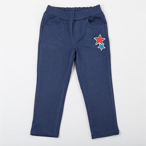 00088_BAT Джеггинсы для девочки  джинс синий