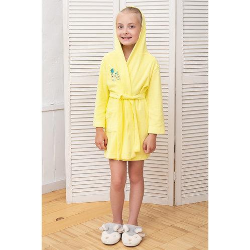 01355_BAT Халат для девочки желтый
