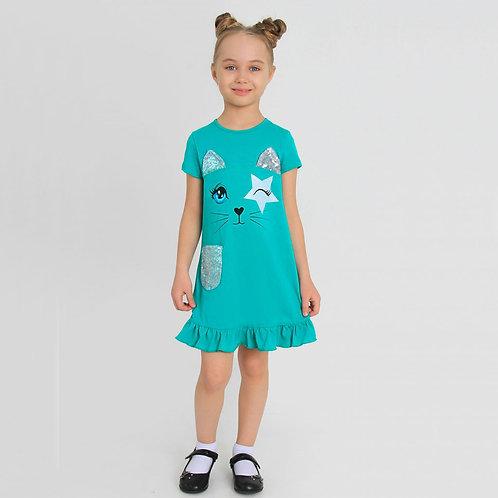 Платье ИПЛ-441/7 Карнелия-7  Изумрудный