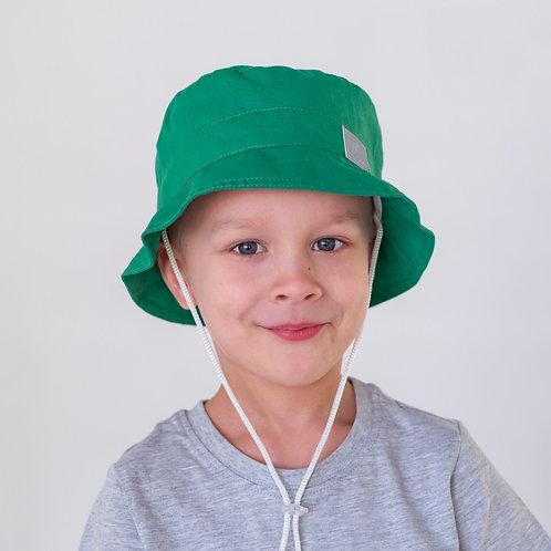 ПЛ19-24063842 Панамка НоН со светоотражающим шевроном, зеленый
