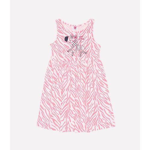 Платье для девочки К 5595/сахар,зебра