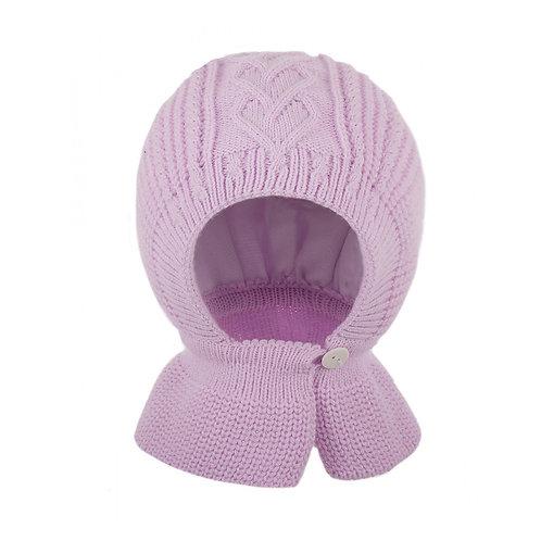 Шлем шапка хб подкл, утепл.  арт Cb-24, розовый