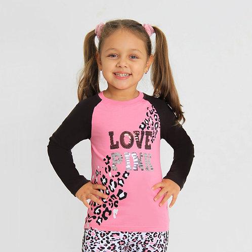 Джемпер для девочки ДУ-Ф-07 Розовый леопард-2  Розовый