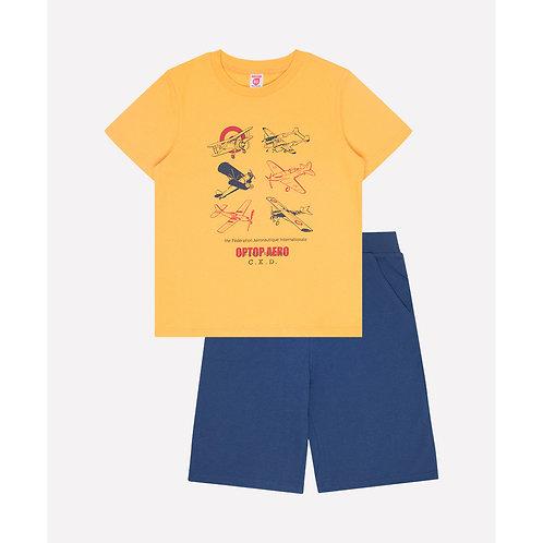 Костюм для мальчика К 2594/кадмий желтый+глуб синий