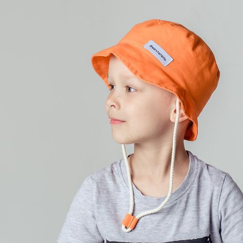ПЛ19-24043897 Панамка с нашивкой Мечтатель, оранжевый