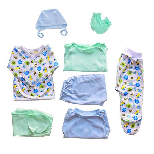 Набор для новорожденного 8 предметов, мальчик