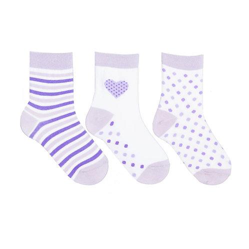 Носки детские (3 пары) 400A-556, св.фиолетовый-3
