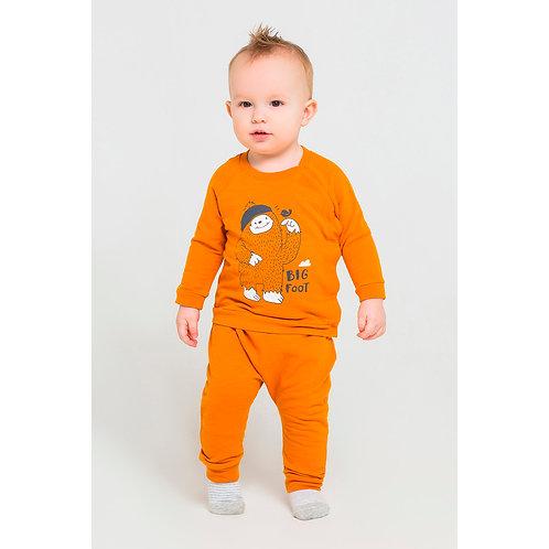 К  4714/оранжевый брюки футер