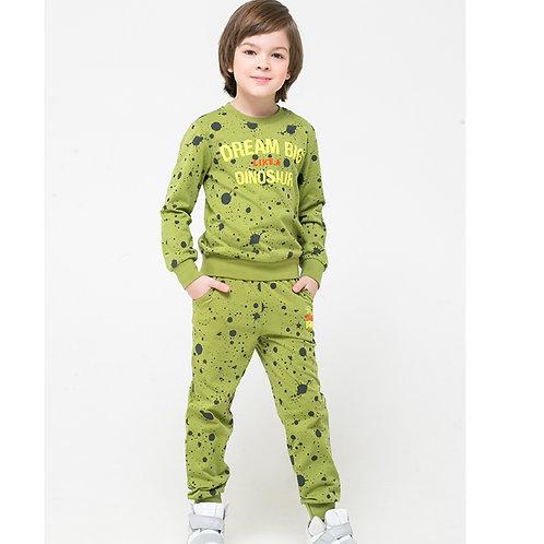 К 301128/зеленый,брызги краски к1251 джемпер для мальчика