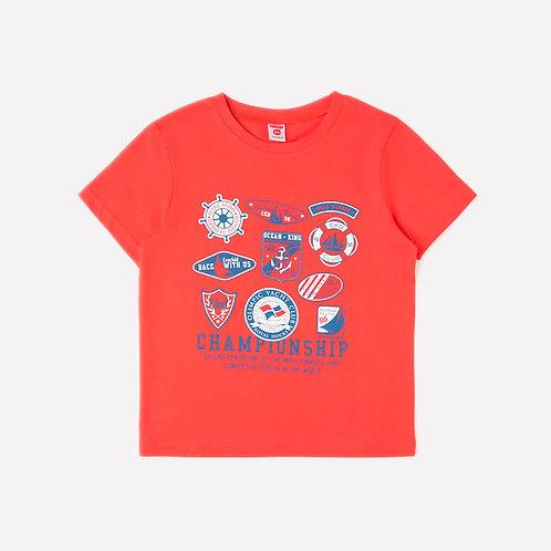 Футболка для мальчика К 300969/ярко-красный