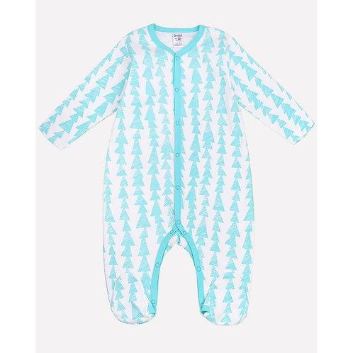 Комбинезон для мальчика 6025/бирюзово-голубая полоска