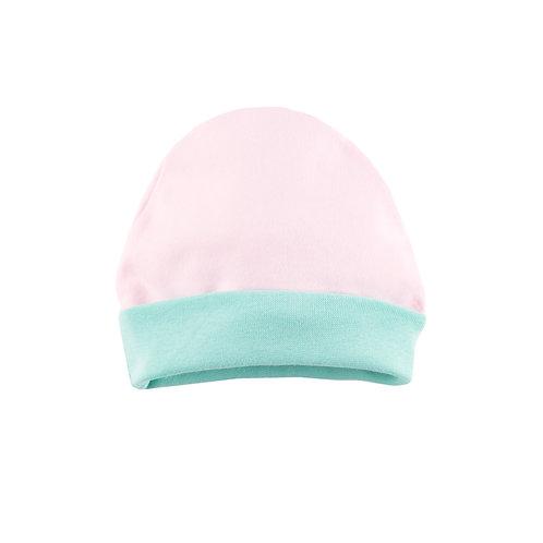 Однослойная шапка с подворотом