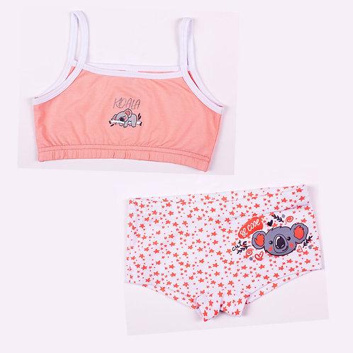 01325_BAT Комплект майка-топ+ шортики для девочки супрем персиковы