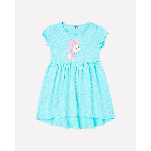 Платье K 5600/морозная мята,горошки