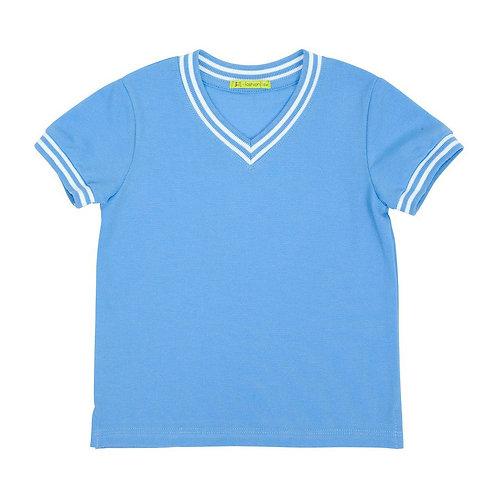 M015302P Футболка для мальчика пике голубой