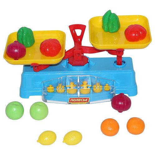 """Игровой набор """"Весы"""" + Набор продуктов (12 элементов) (в сеточке) 53787"""