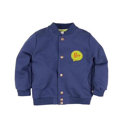 Бомбер с вышивкой для мальчика, синий 174Б-462с