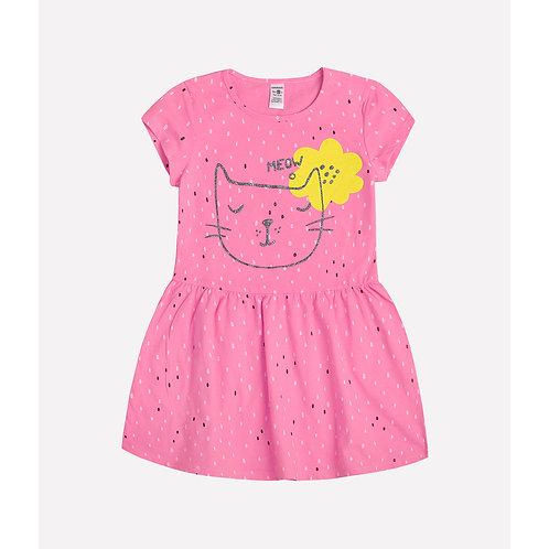 Платье K5492/яр.горошек на клубничном суфле