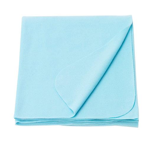 Плед флисовый, голубой