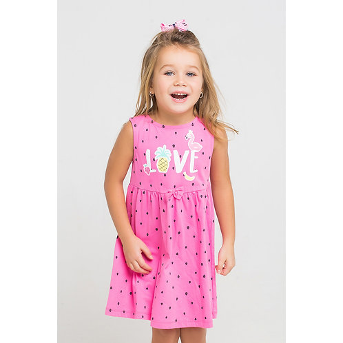 Платье K  5433/арубуз на роз облаке