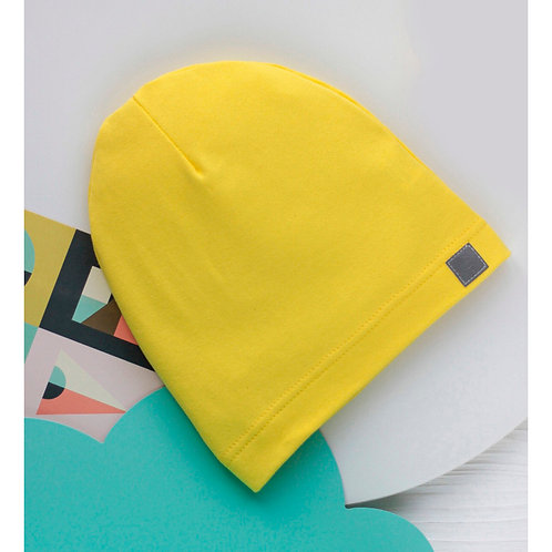 Шапка однослойная,желтый