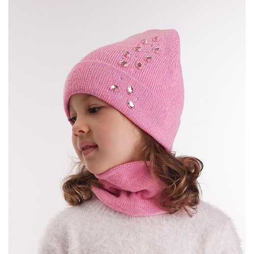 """Шапка дет. """"Кузина"""" б/подкл., розовый"""