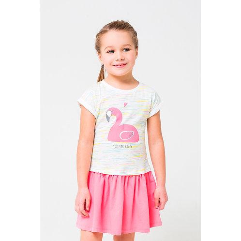 Платье K 5380/цветной меланж,леденец к1242